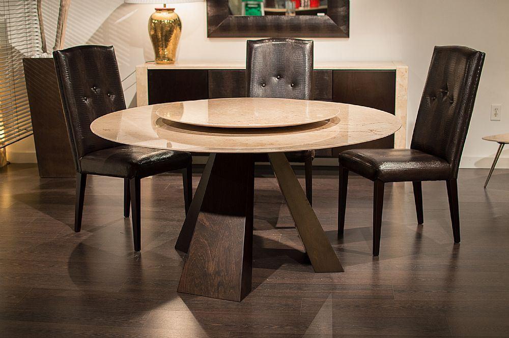 Stone Italia Butterfly Wood Round 9697 Dining Table Italian Linea Design